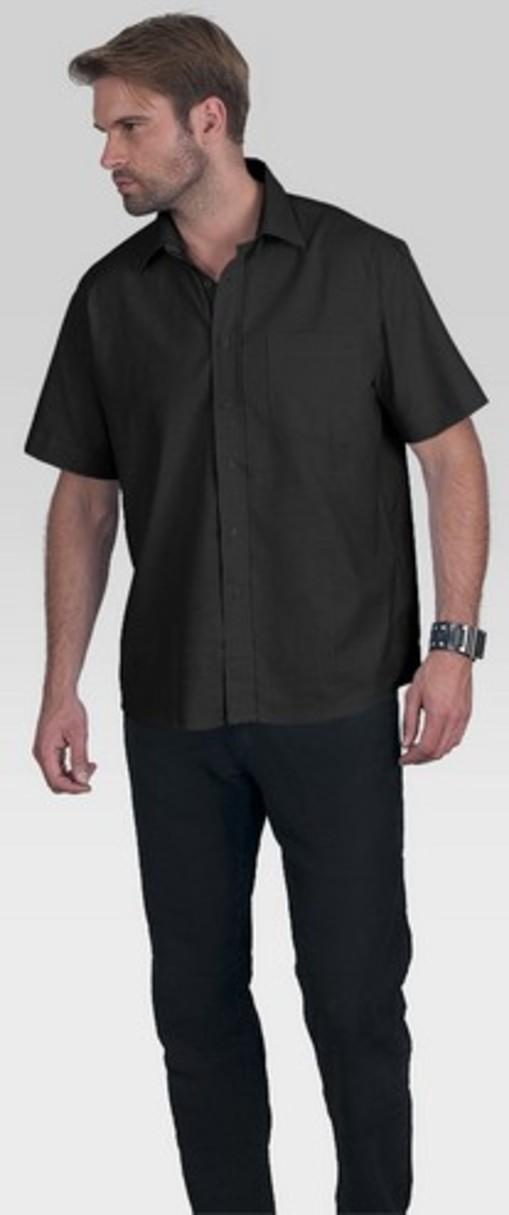 Pánská košile M RIVER 94100 - Černá/S