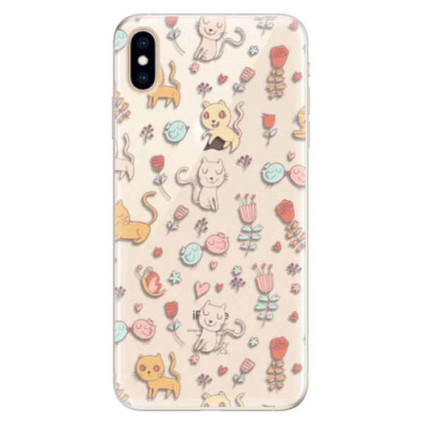 Silikonové pouzdro iSaprio - Cat pattern 02 - iPhone XS Max