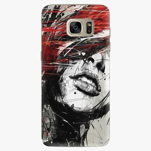Plastový kryt iSaprio - Sketch Face - Samsung Galaxy S7 Edge
