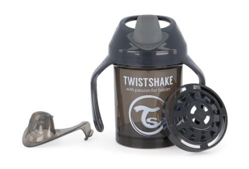 Nekapající hrneček Twistshake se sítkem, 4m+, 230ml, černý