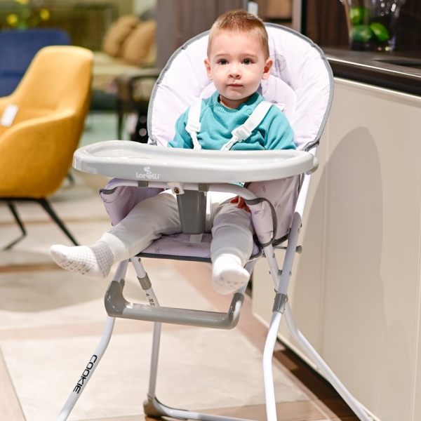 Jídelní židlička Lorelli COOKIE GREY RABBITS