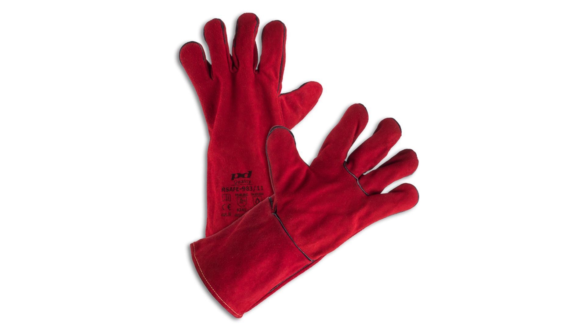 RSAFE-983/11 Svařovací rukavice červené