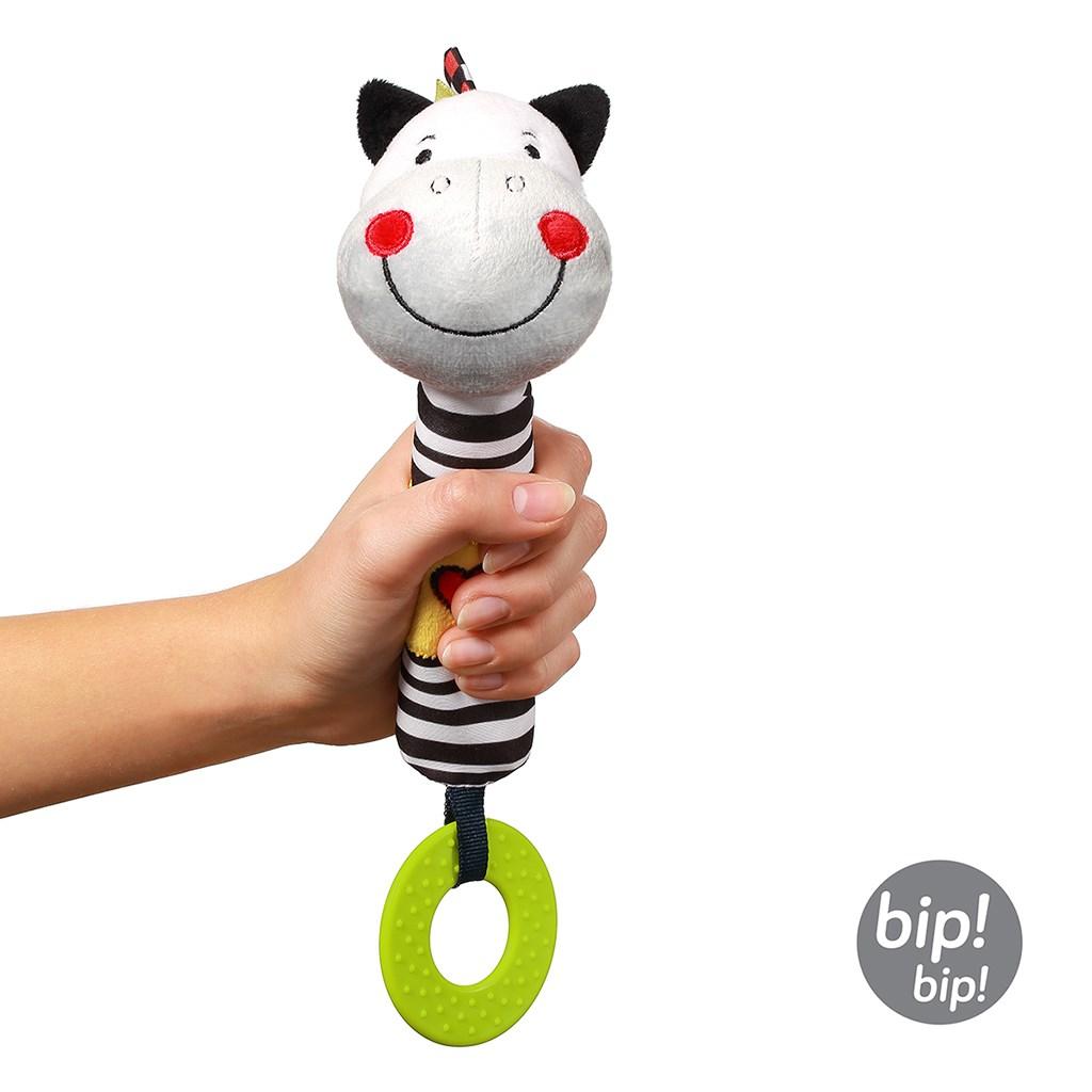 Plyšová pískací hračka s kousátkem Baby Ono zebra Zack - dle obrázku