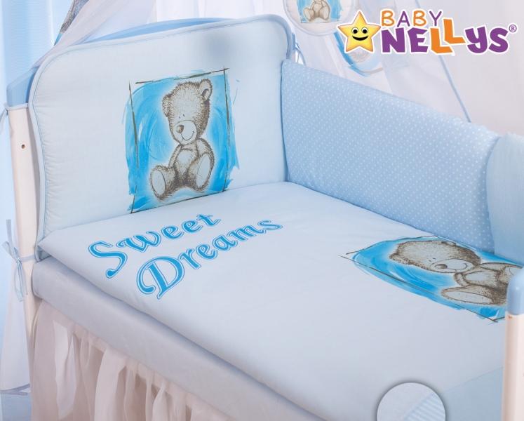 Baby Nellys Mantinel 360cm s povlečením Sweet Dreams by Teddy - modrý - 120x90