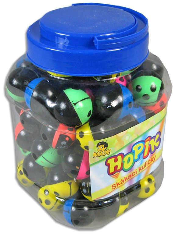 Hopík skákací kulička beruška 3cm balonek skákačák různé barvy