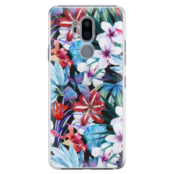 Plastové pouzdro iSaprio - Tropical Flowers 05 - LG G7