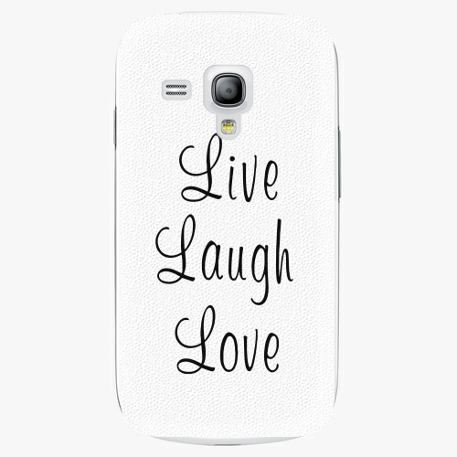 Plastový kryt iSaprio - Live Laugh Love - Samsung Galaxy S3 Mini