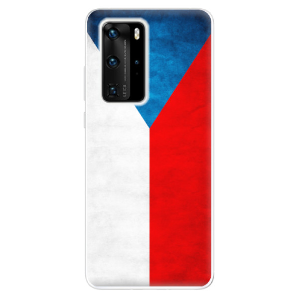 Odolné silikonové pouzdro iSaprio - Czech Flag - Huawei P40 Pro