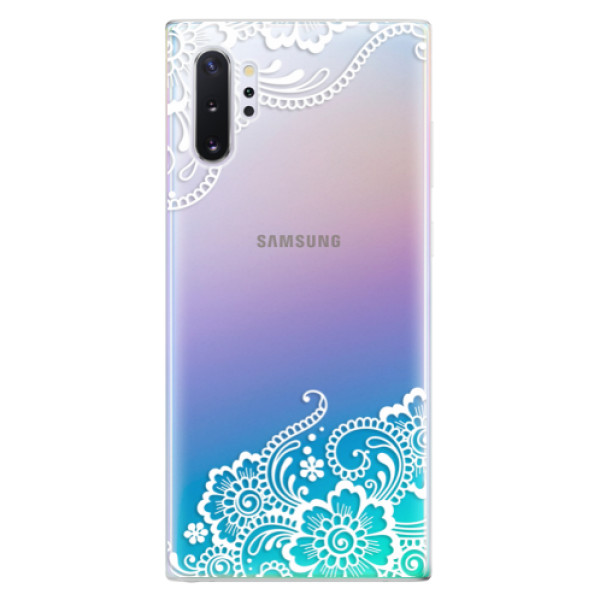 Odolné silikonové pouzdro iSaprio - White Lace 02 - Samsung Galaxy Note 10+
