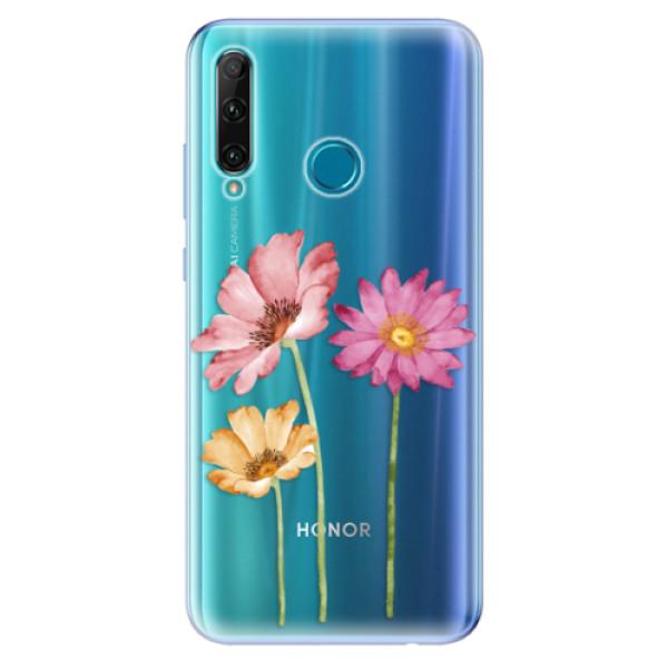 Odolné silikonové pouzdro iSaprio - Three Flowers - Honor 20e