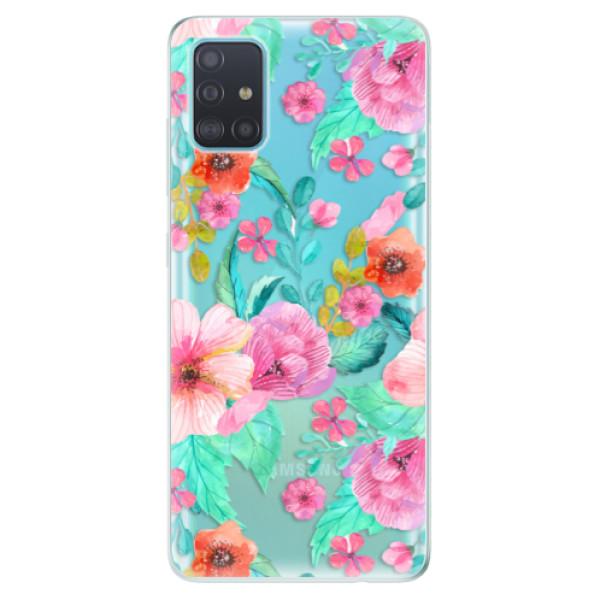 Odolné silikonové pouzdro iSaprio - Flower Pattern 01 - Samsung Galaxy A51