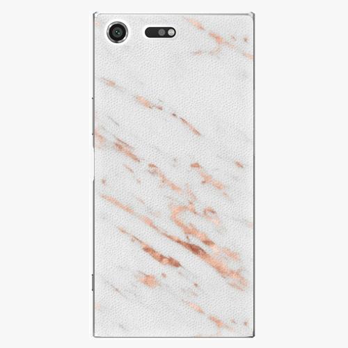 Plastový kryt iSaprio - Rose Gold Marble - Sony Xperia XZ Premium