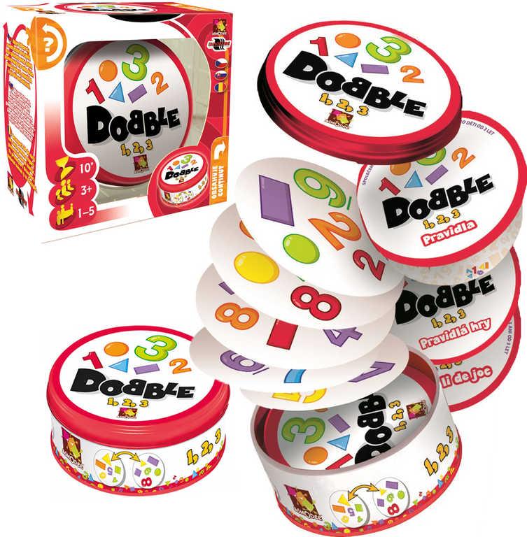 ASMODEE Hra postřehová Dobble 1-2-3 v plechové krabičce *SPOLEČENSKÉ HRY*