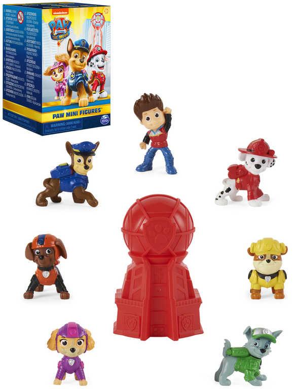 SPIN MASTER Tlapková patrola mini figurka set 7ks v záchranářské věži plast