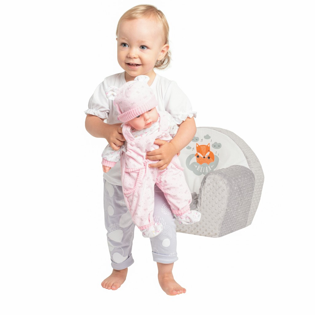 Dětské křeslo z Minky New Baby Liška