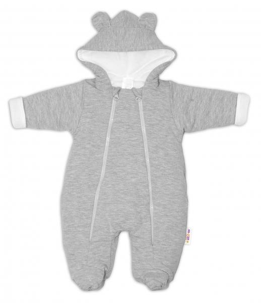 baby-nellys-kombinezka-s-dvojitym-zapinanim-s-kapuci-a-ousky-sv-seda-vel-74-74-6-9m