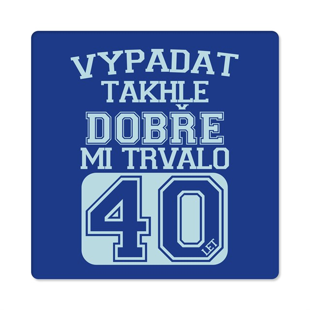 Humorná trička - Pánské humorné tričko - 40 let, vel. XL
