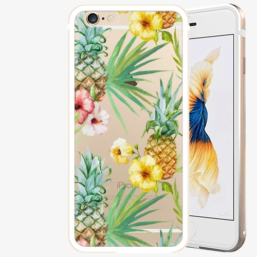 Plastový kryt iSaprio - Pineapple Pattern 02 - iPhone 6/6S - Gold