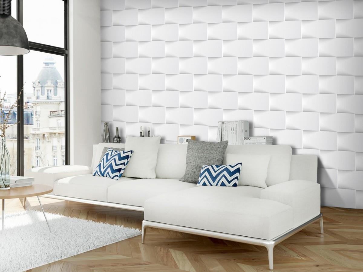 3D tapeta Bílá zeď