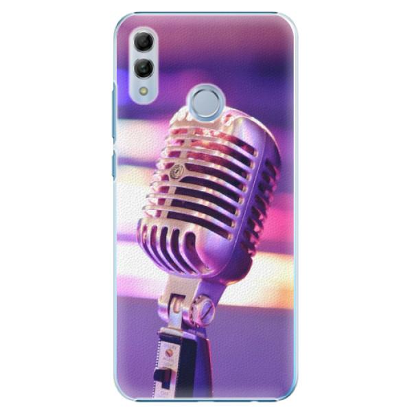 Plastové pouzdro iSaprio - Vintage Microphone - Huawei Honor 10 Lite