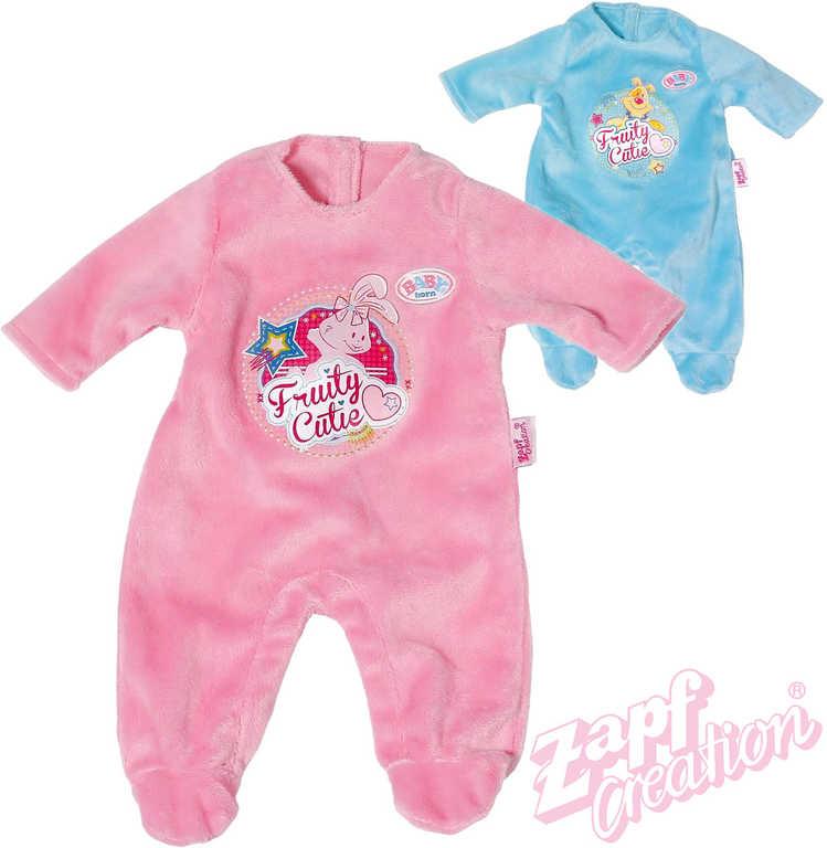 ZAPF BABY BORN Oblečení overal sametový pro panenku miminko 2 barvy