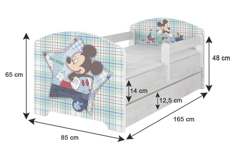 NELLYS Dětská postel SABI v barvě norské borovice + matrace zdarma
