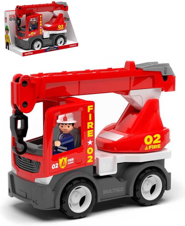 EFKO IGRÁČEK MultiGO Fire jeřáb set auto hasičské s figurkou