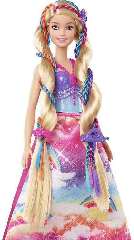 MATTEL BRB Panenka Barbie princezna s barevnými vlasy s nástrojem a doplňky