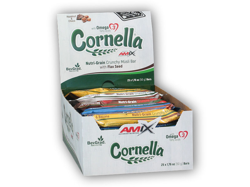 25x Cornella Crunchy Muesli Bar 50g