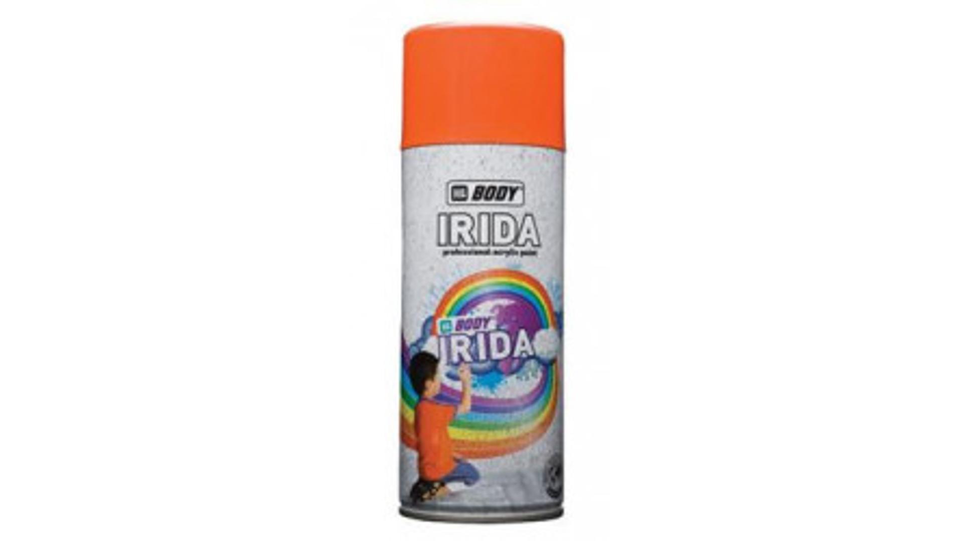 HB BODY irida RAL 3020 dopravno rudá barva ve spreji 400ML