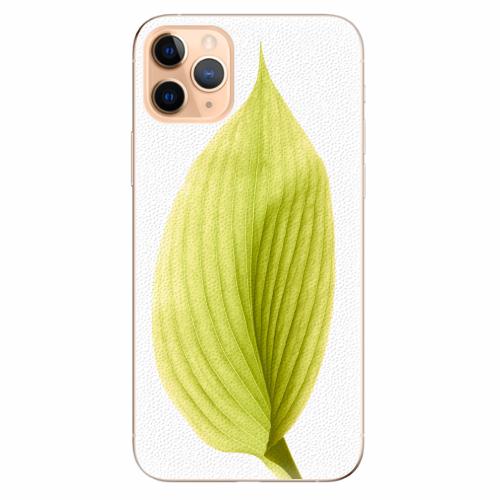 Silikonové pouzdro iSaprio - Green Leaf - iPhone 11 Pro Max