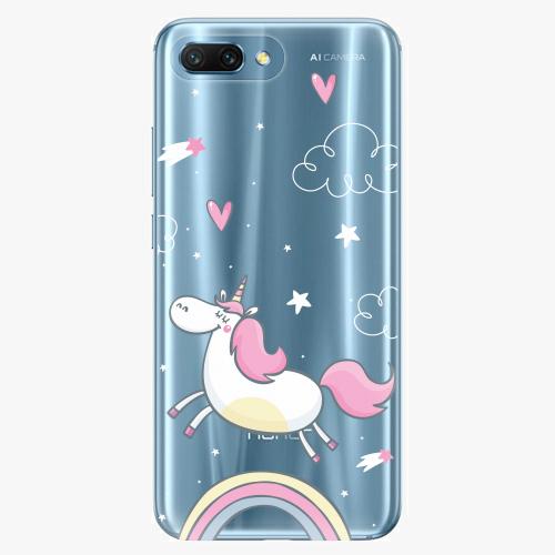 Silikonové pouzdro iSaprio - Unicorn 01 - Huawei Honor 10