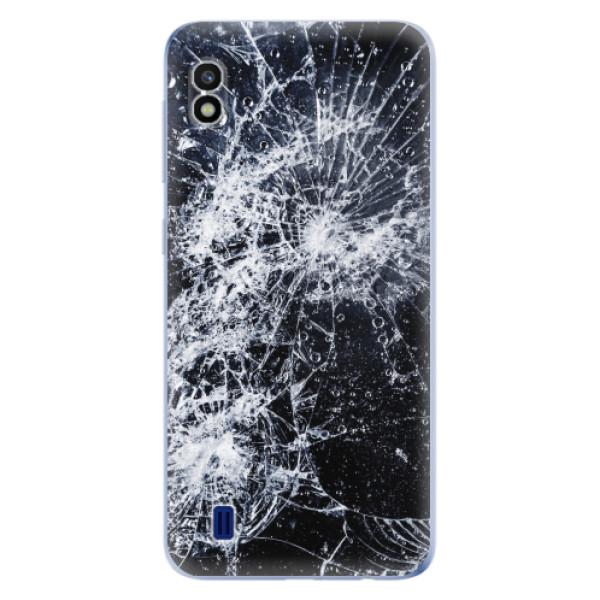 Odolné silikonové pouzdro iSaprio - Cracked - Samsung Galaxy A10