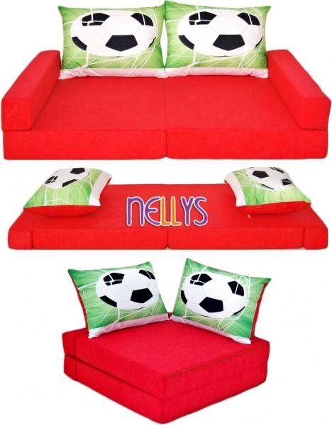nellys-rozkladaci-detska-pohovka-3-v-1-p16-fotbal-cerveny