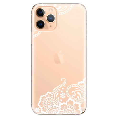 Silikonové pouzdro iSaprio - White Lace 02 - iPhone 11 Pro