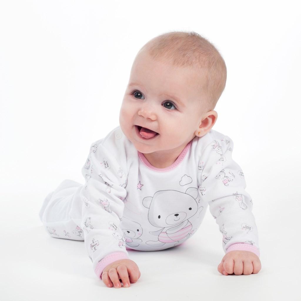 Kojenecké body s bočním zapínáním New Baby Bears