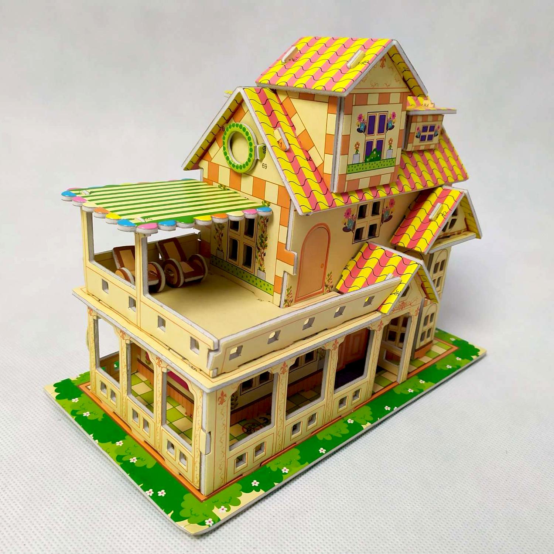 3D puzzle pro děti dům - bílý