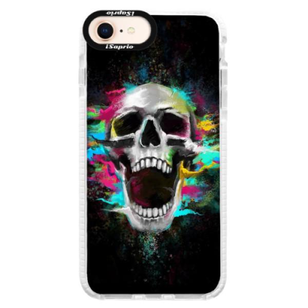 Silikonové pouzdro Bumper iSaprio - Skull in Colors - iPhone 8
