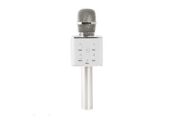 Teddies Mikrofon na karaoke s bluetooth, stříbrný, 25 cm
