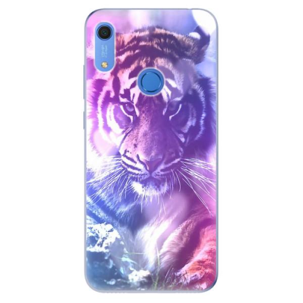 Odolné silikonové pouzdro iSaprio - Purple Tiger - Huawei Y6s