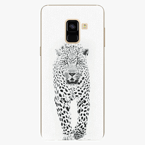 Plastový kryt iSaprio - White Jaguar - Samsung Galaxy A8 2018