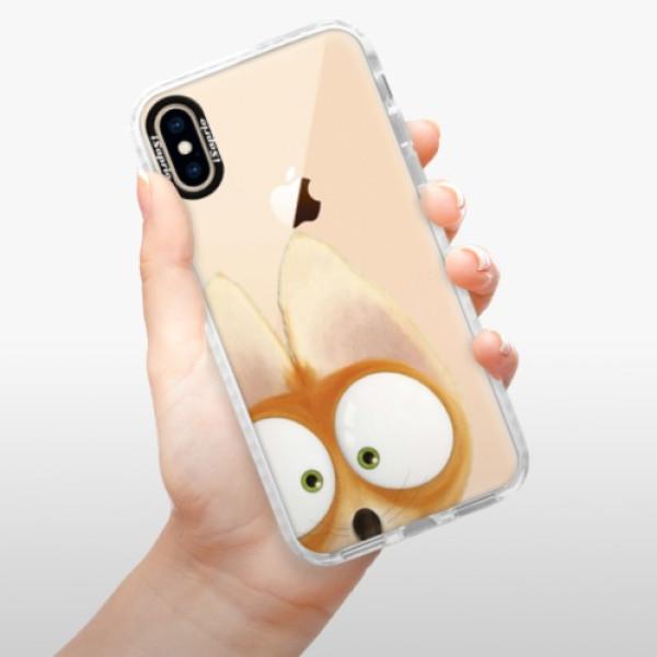 Silikonové pouzdro Bumper iSaprio - Fox 02 - iPhone XS