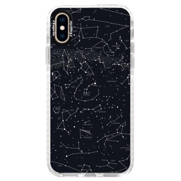 Silikonové pouzdro Bumper iSaprio - Night Sky 01 - iPhone XS