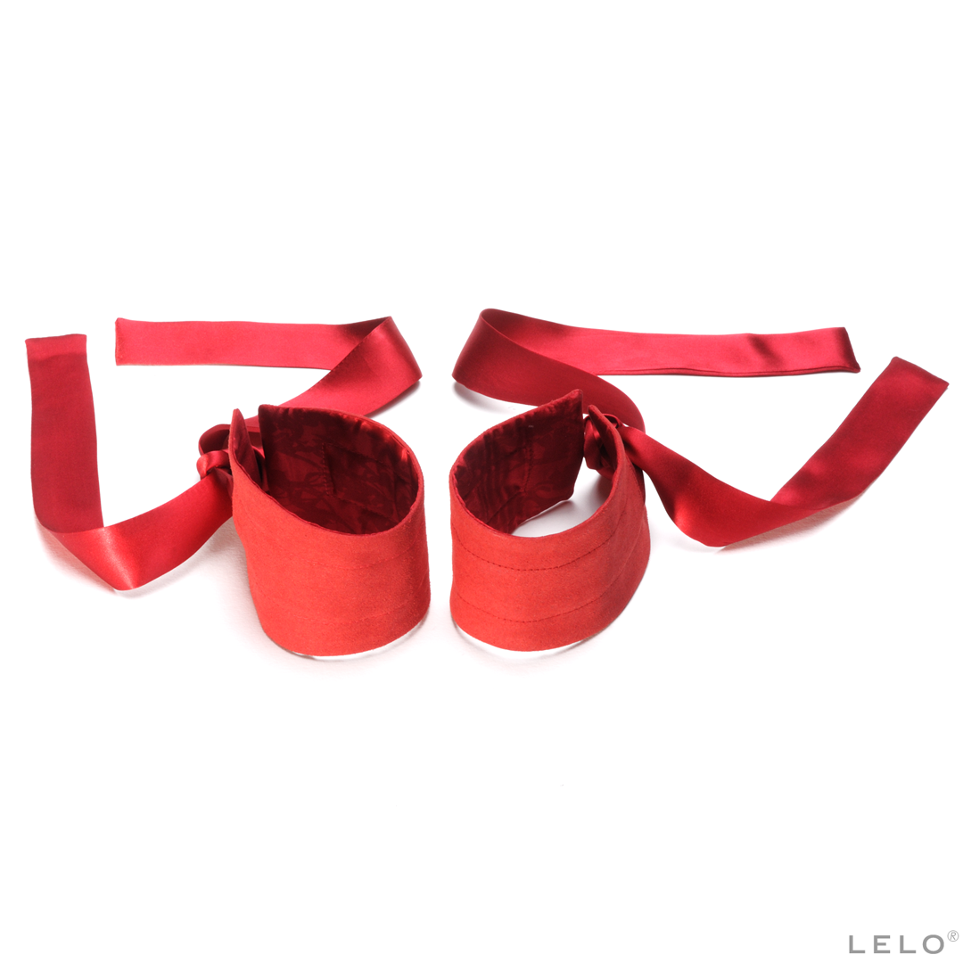 Lelo - Etherea Silk Cuffs Red