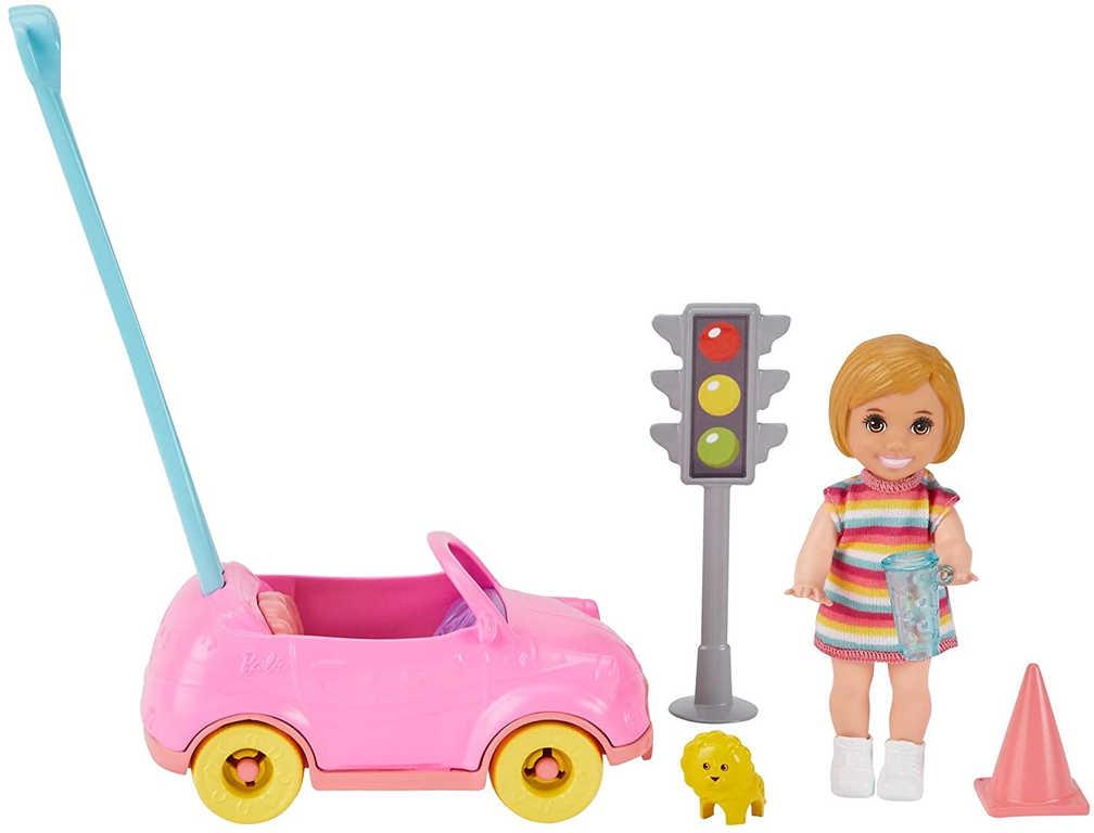 MATTEL BRB Barbie herní set panenka s doplňky pro chůvu 3 druhy