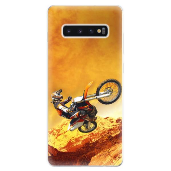 Odolné silikonové pouzdro iSaprio - Motocross - Samsung Galaxy S10+