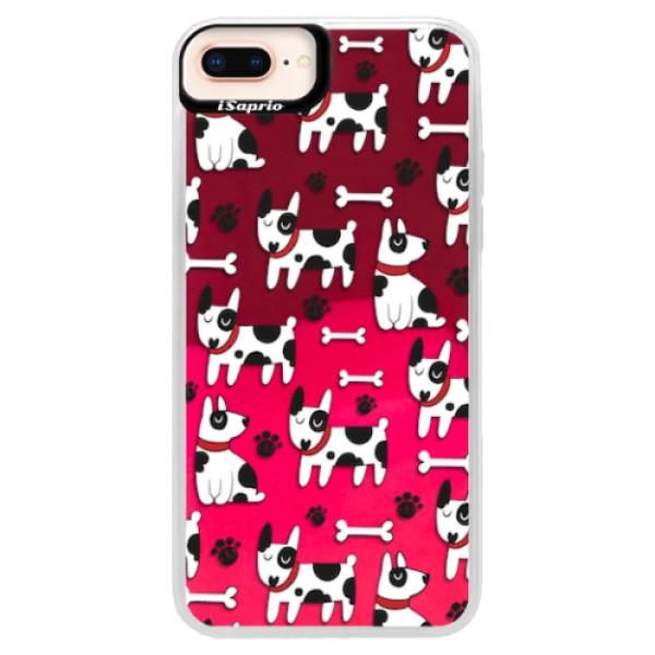 Neonové pouzdro Pink iSaprio - Dog 02 - iPhone 8 Plus
