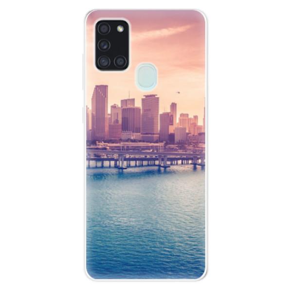 Odolné silikonové pouzdro iSaprio - Morning in a City - Samsung Galaxy A21s