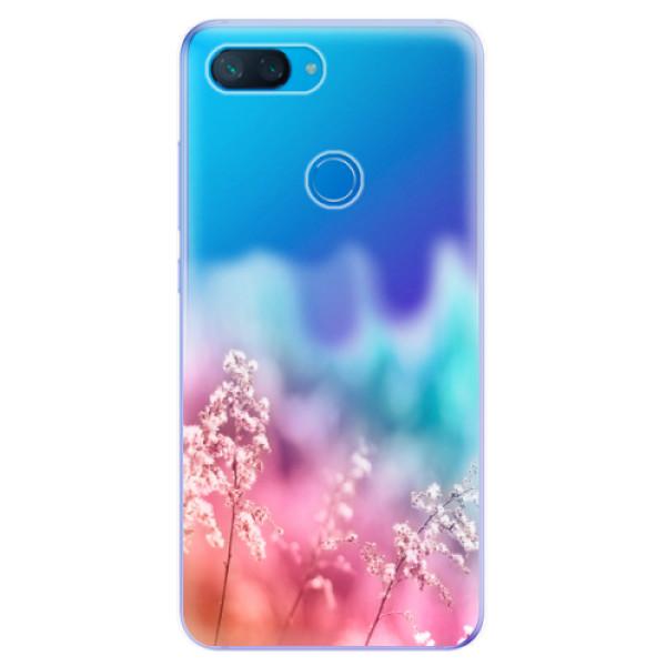 Odolné silikonové pouzdro iSaprio - Rainbow Grass - Xiaomi Mi 8 Lite
