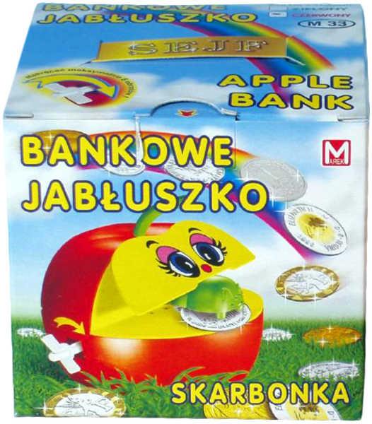 PL Pokladnička (kasička) JABLKO S červíkem plastová